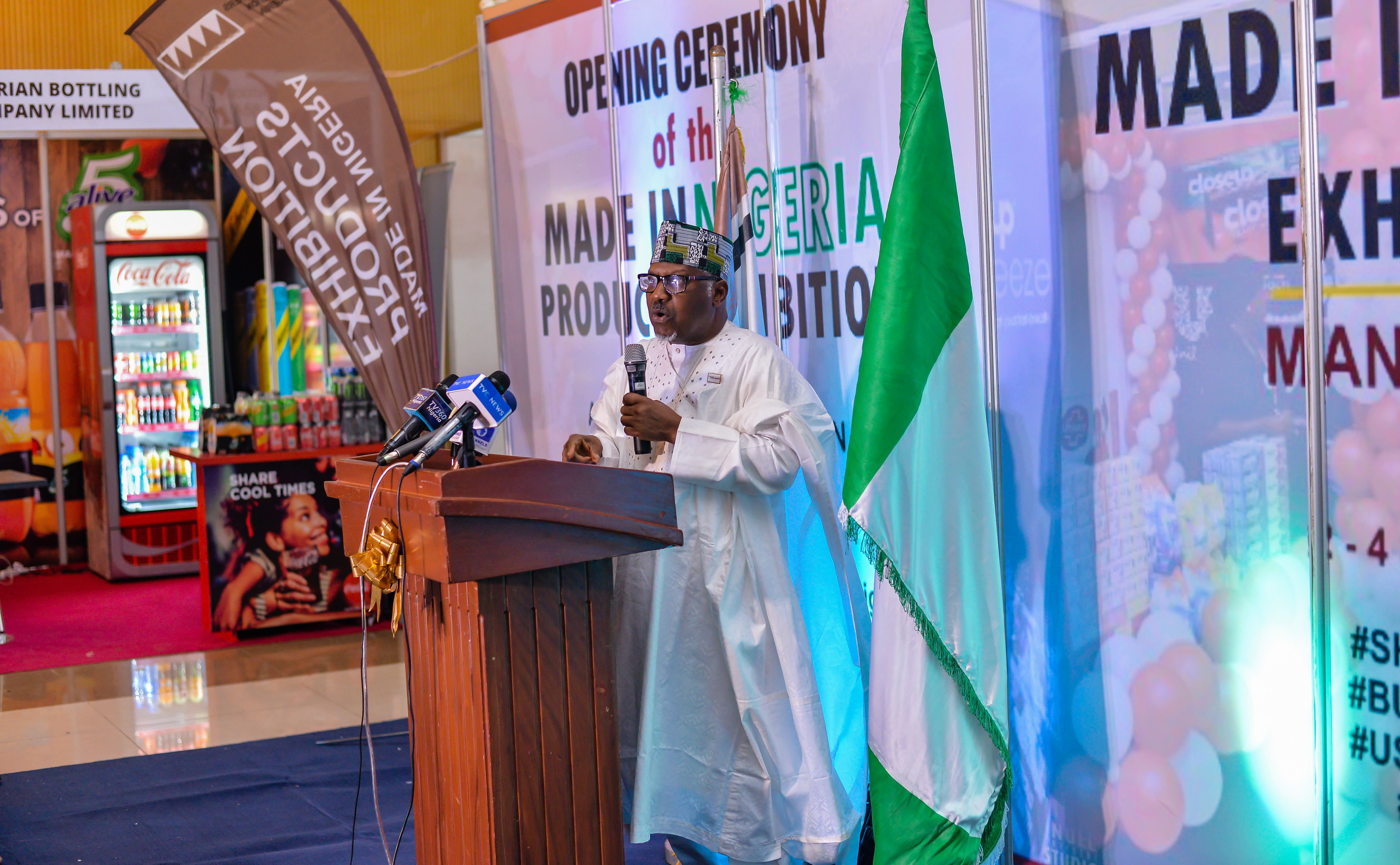 MAN President, Engr. Mansur Ahmed, declaring MAN EXPO open at the 47th AGM