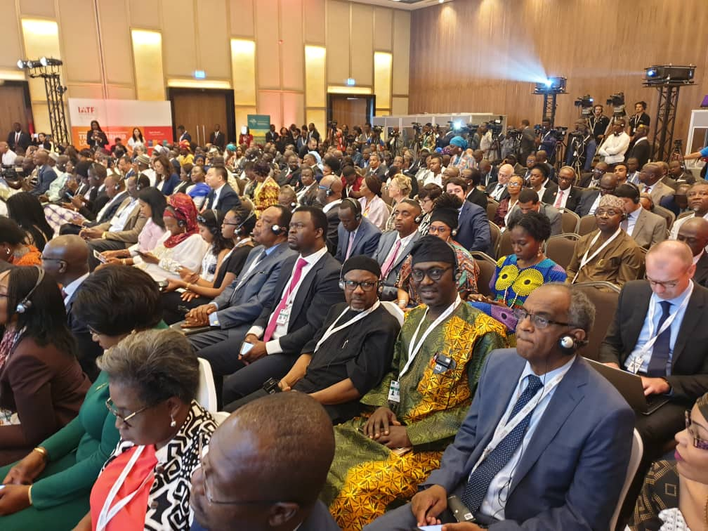 The President and Director General of MAN at the Plenary of the AfCFTA Business Forum 2019 in Niamey